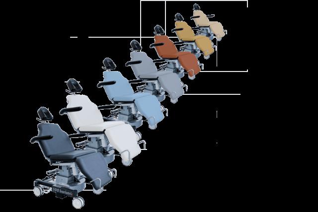 Farbauswahl der Polster für den Behandlungsstuhl 500 bariatric performanceLine
