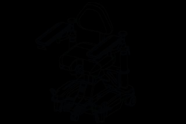 Technische Zeichnung UFSK-OSYS Operateurstuhl surgiForce light premiumLine