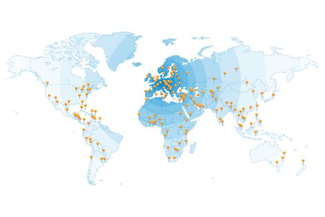 Weltweites Händlernetzwerk UFSK-OSYS