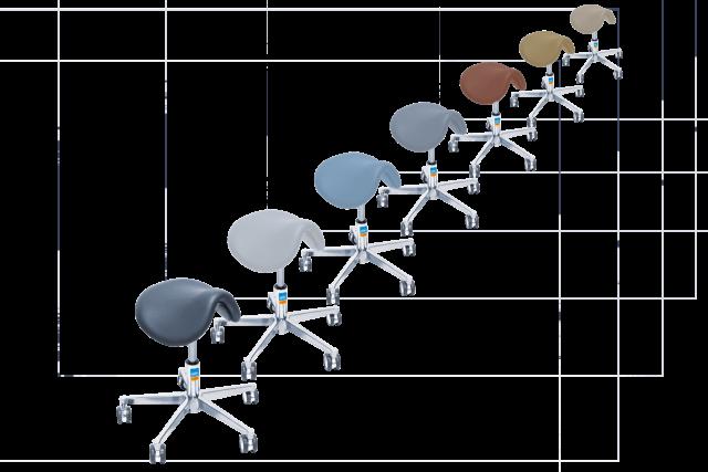 Farbauswahl der Polsterung des UFSK-OSYS Assistentenstuhls assistLine functionalClass
