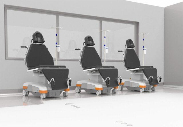 Einsatz von drei eyeForce Behandlungsstühlen im Rotationssystem