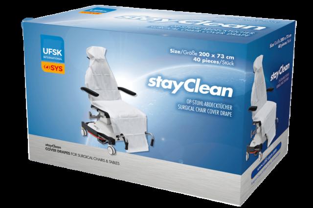 Verpackung der stayClean Abdecktücher für UFSK-OSYS Behandlungsgeräte